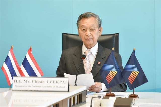 ASEAN must be united to tackle common difficulties: Thaiparliament president