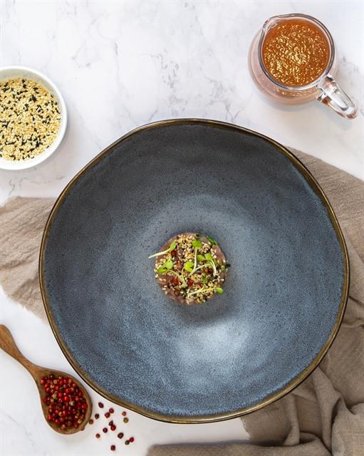 Tuna tartar with classic Gazpacho sauce