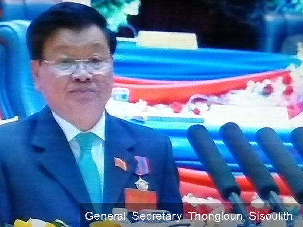 Top leader congratulates newly-elected Secretary of General of the Lao Peoples Revolutionary Party Central Committee