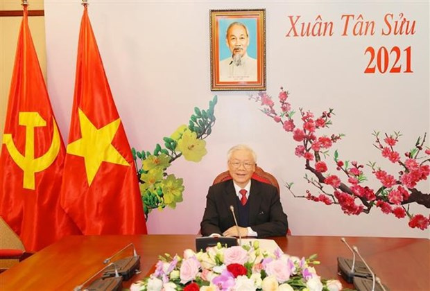 Top leader holds phone talks with new Secretary General of Lao Peoples Revolutionary Party