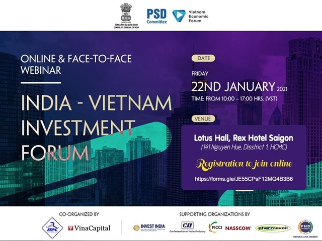 Investors to explore business opportunities at India - Việt Nam investment forum