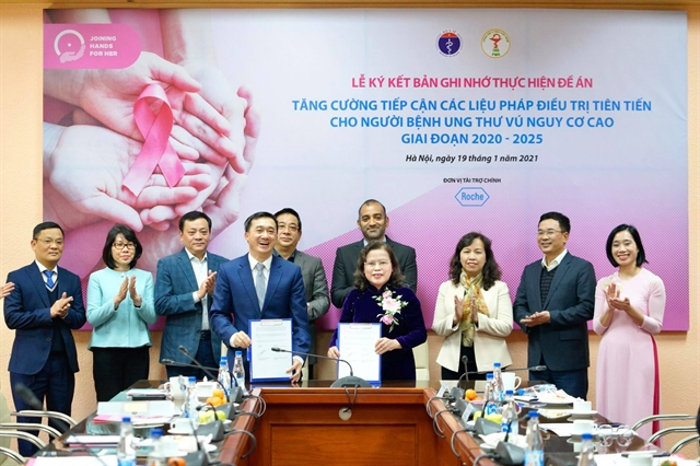 Health ministry VMA sign partnership agreement on breast cancer treatment in VN