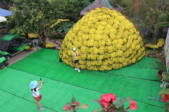 Flower decoration sets Vietnamese record