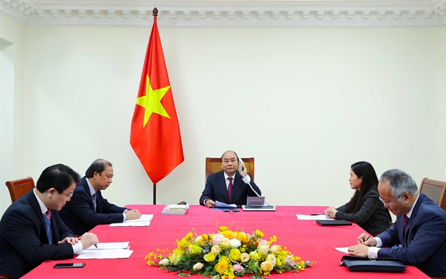 Vietnamese Australian PMs hold phone talks