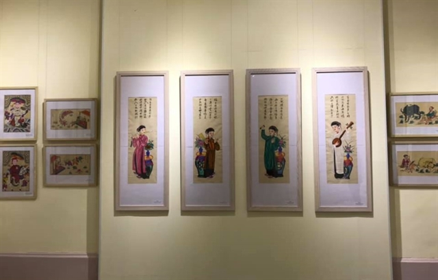 Hải Phòng exhibition featurestraditional folk paintings