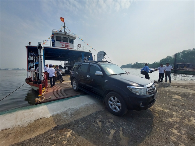 Rạch Miễu temporary ferry station opens