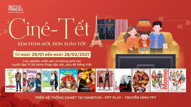 French films screened free online during Tết