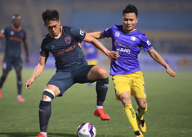 Hà Nội can win V.League 1 title despite slow start says Quang Hải