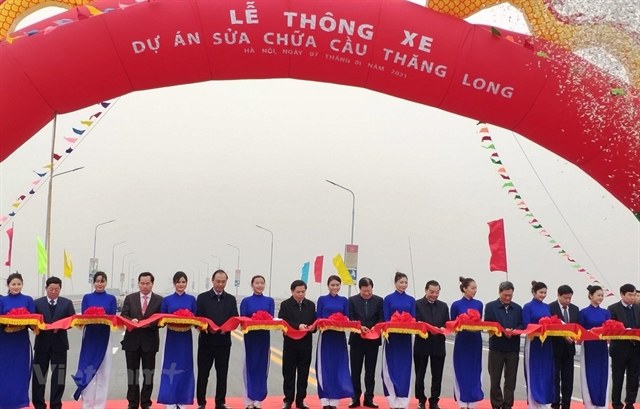 Thăng Long Bridge reopens to traffic