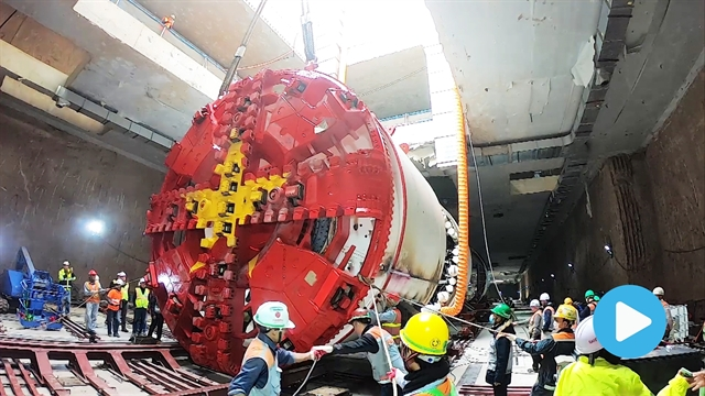 Hanois first tunnel boring machine