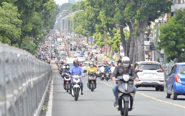 HCM City streets busy onfirst day after lifting of lockdown