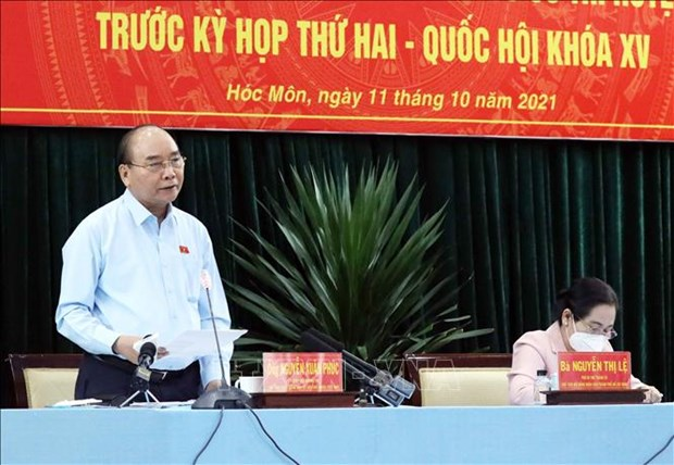 President clarifies pandemic prevention measures for voters in HCM City
