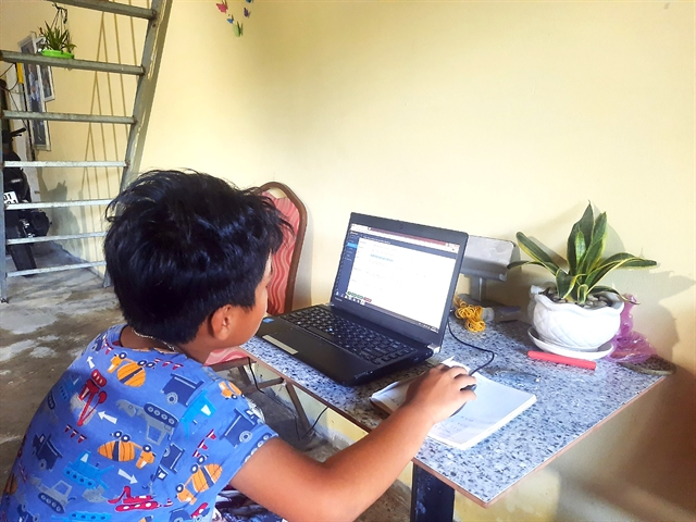 Cà Mau pioneers in halting online classes for primary schoolchildren