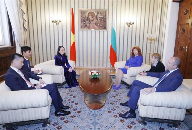Vice President Võ Thị Ánh Xuân meets Bulgarian leaders