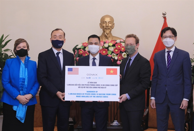 Việt Nam thanks COVAX US Govt for latest donation of 1.5 million Pfizer vaccines