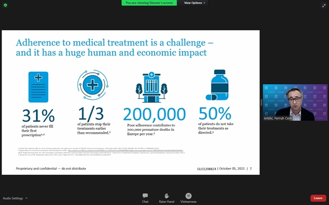 Virtual workshop held to tackle worldwide lack of adherence to medical treatment