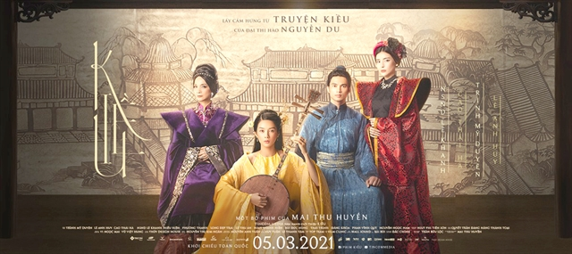 Actors gear up for Kiều the movie premiere in March