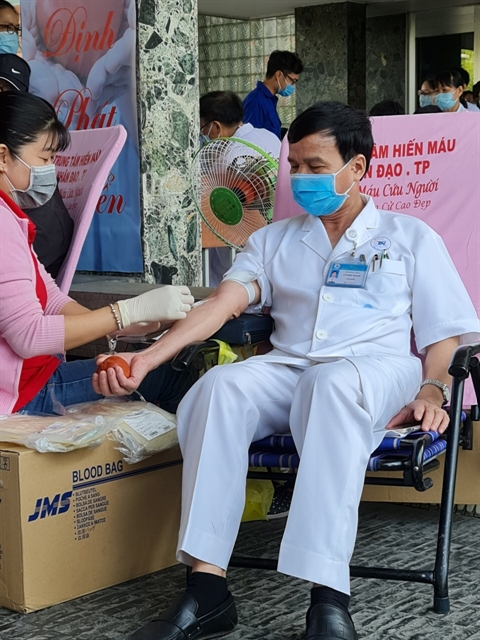 HCM City hospital collects blood from employees