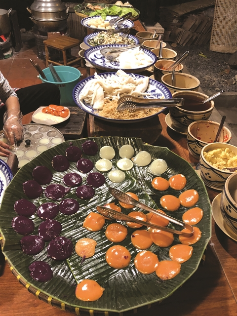 Bình Quới: traditional food rural ambience
