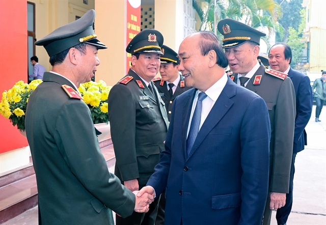 PM inspects combat readiness at public security units