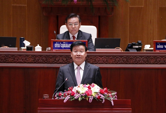 Vietnamese leaders congratulate newly elected leaders of Laos