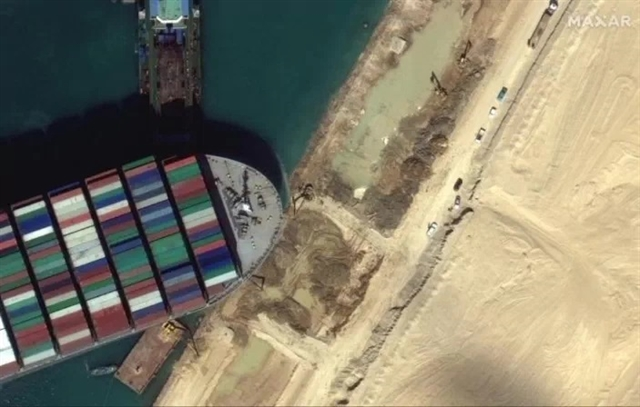 Megaship still stuck in Suez canal as new refloating attempt likely Monday
