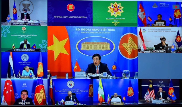 ASEAN foreign ministers statement on COVID-19 recovery Myanmar issues