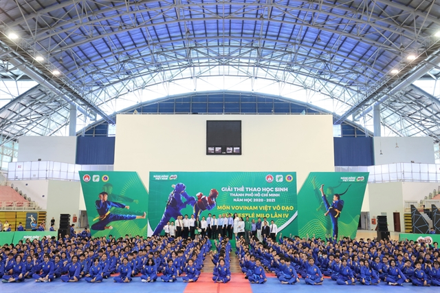 1500 school students begin Vovinam competition in HCM City