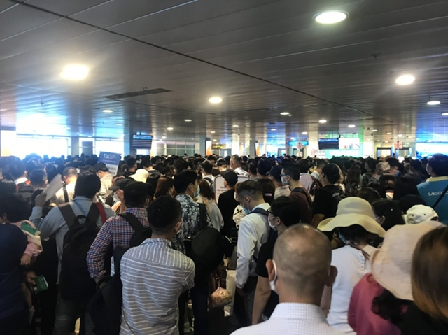HCM City airport overrun by crowds as domestic travel picks up