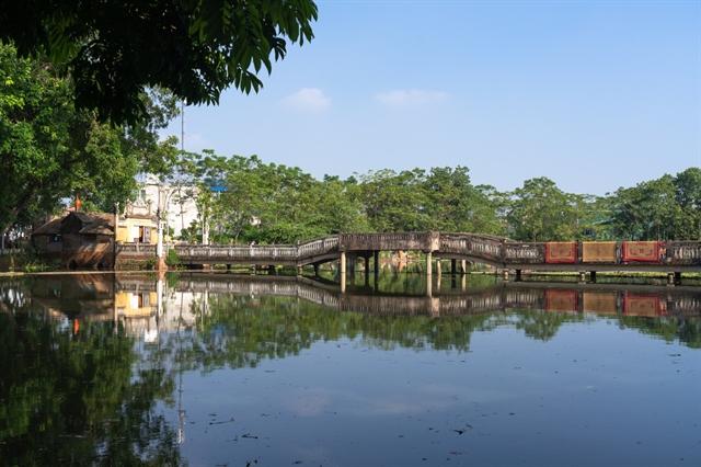 Bridge to a villages distant past