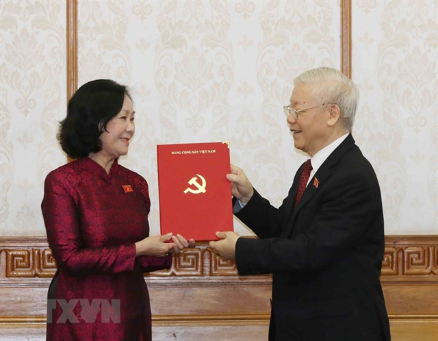 Party leader presents decisions appointing heads of Party Central Committees commissions