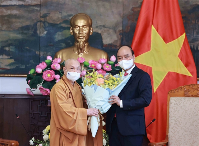 President Phúc hosts Việt Nam Buddhist Sangha leaders