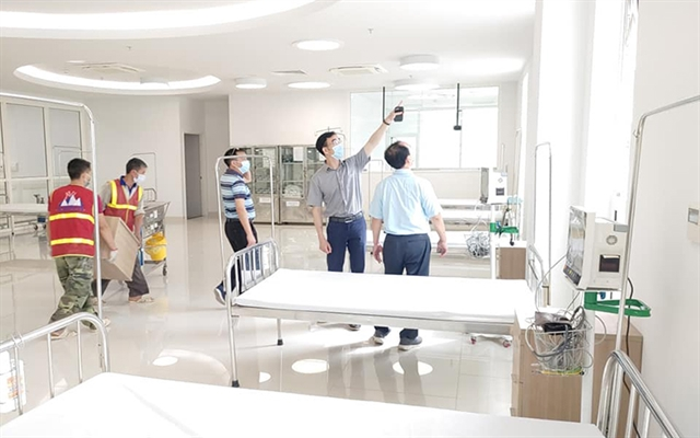 500-bed temporary hospital set up in Hà Nam to treat COVID-19 patients