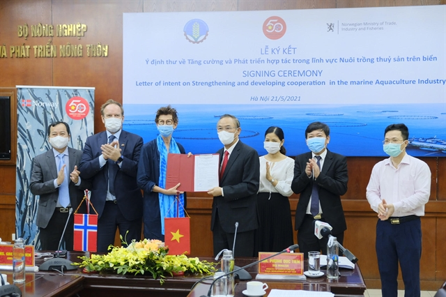VN Norway sign Letter of Intent on marine aquaculture co-operation