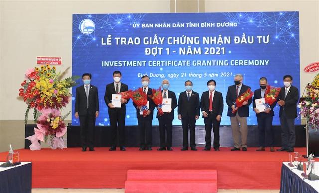 Bình Dương certifies 1b worth of FDI