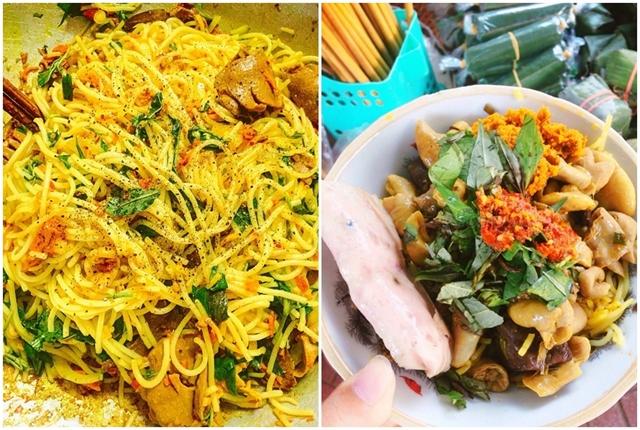 Bún nghệ xào lòng a unique dish of Huế