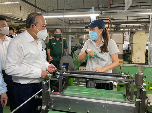 Deputy PM orders stricter COVID-19 prevention measures at HCM City industrial zones