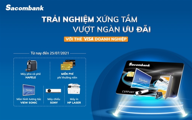 Sacombank offers slew of incentives on corporate cards