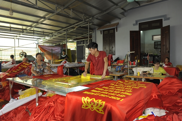 Trade village busy making flags ahead of national election