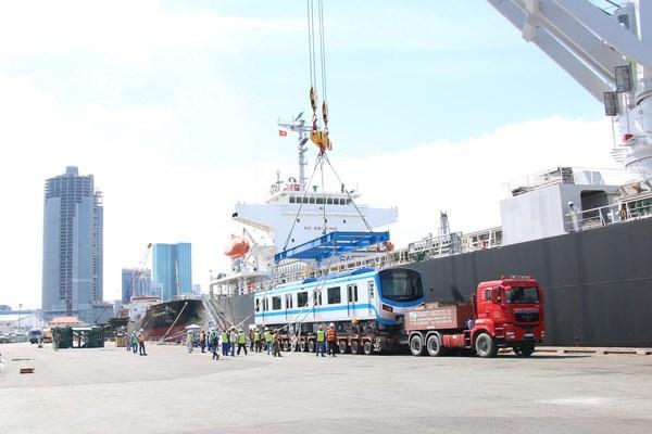 HCM City receives more trains for MetroLine No 1