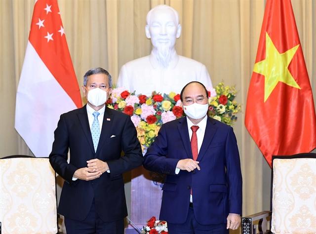 President hosts Singaporean Foreign Minister