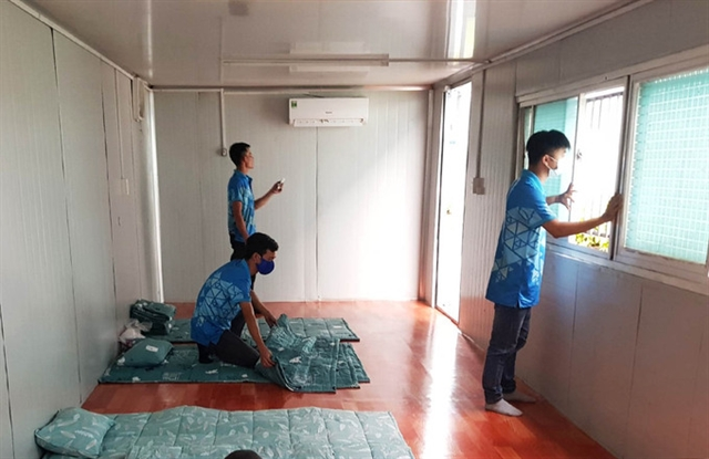 Đồng Nai factories set up temporaryhousing for workersas COVID-19 spreads