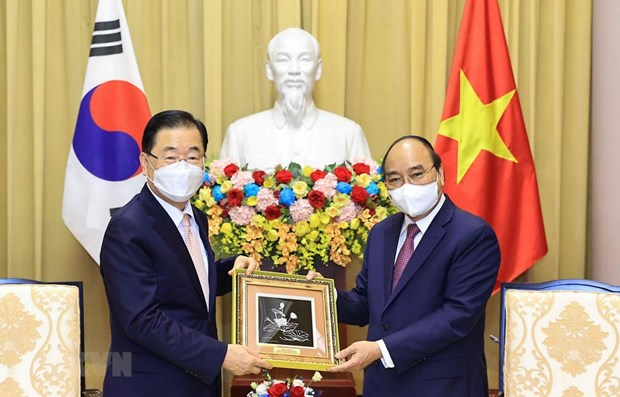 State President receives RoK Foreign Minister