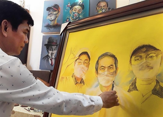 Paintings portray inspiring stories during pandemic