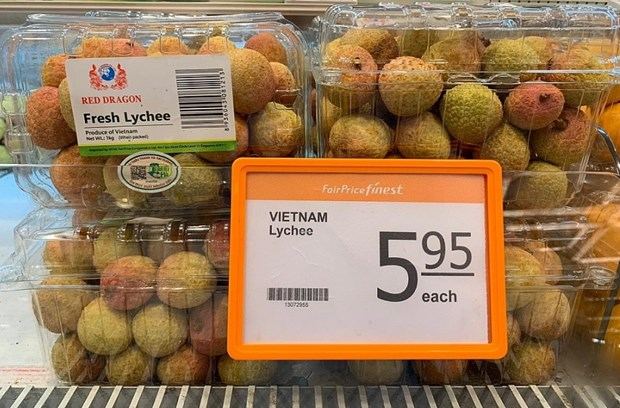 Vietnamese lychees increase presence in Singapore