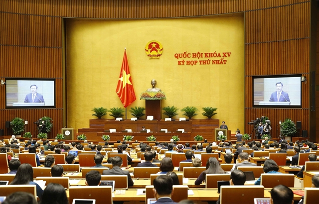 First session of newly elected 15th-tenureNational Assembly opens