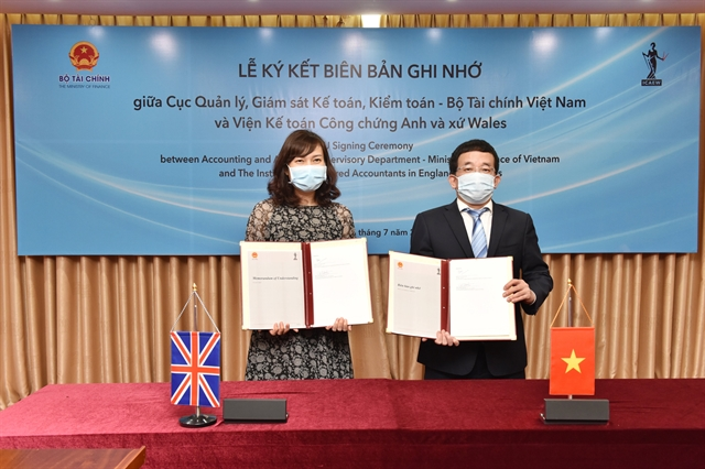 UK chartered accountants institute finance ministry to improve Vietnamsaccounting standards