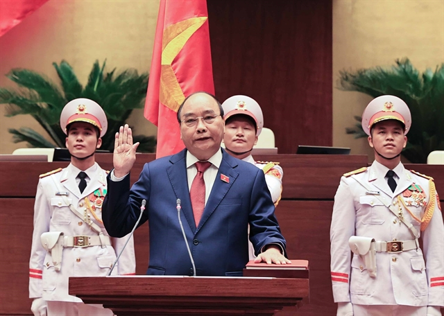 Nguyễn Xuân Phúc re-elected as State President swore to realise comprehensive development