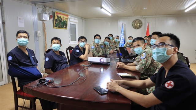 Vietnamese medical staff in South Sudan hold online talks with their Indian counterparts