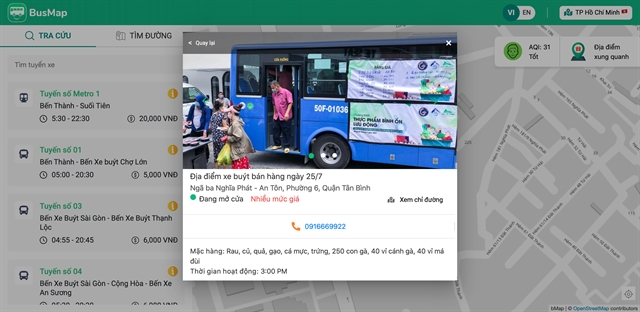 Food delivery buses deployed to secure supplies for residents of HCM City